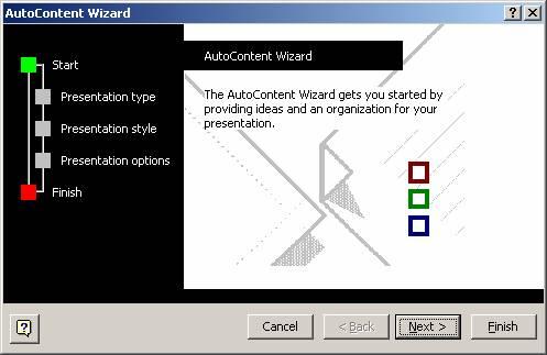 Auto Content Wizard - Presentation Start