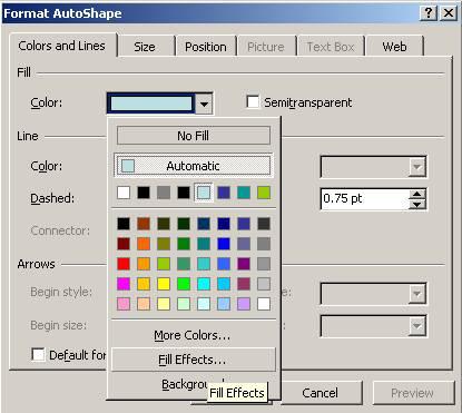 Power Point Format AutoShapes Colors