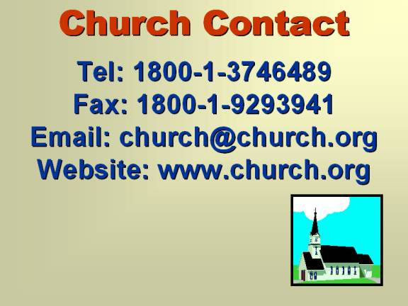 Church Contact