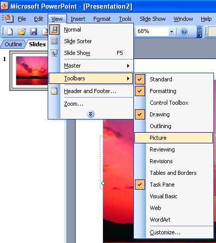 Picture Toolbar