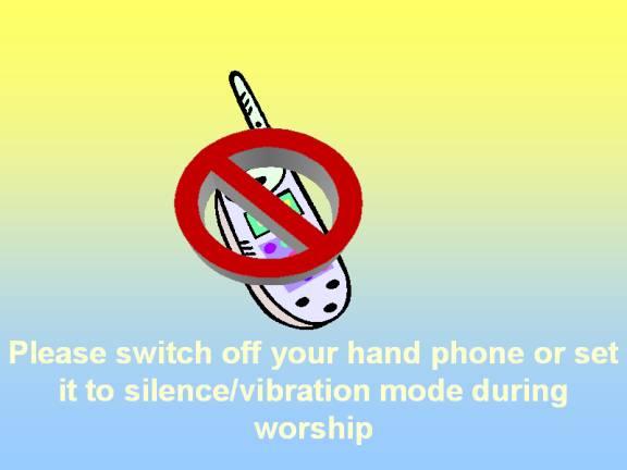 No Handphone